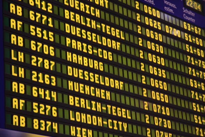 letisko, tabuľa