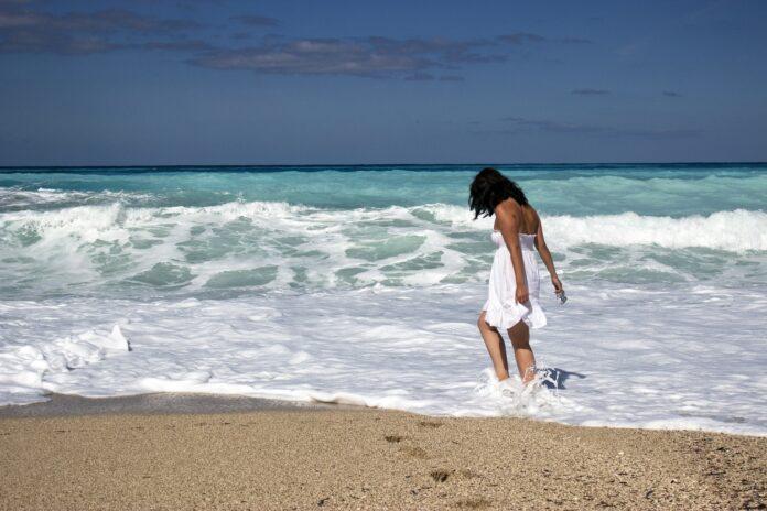 girl, sea, beach