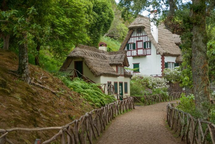 madeira, house in the forest, thatch