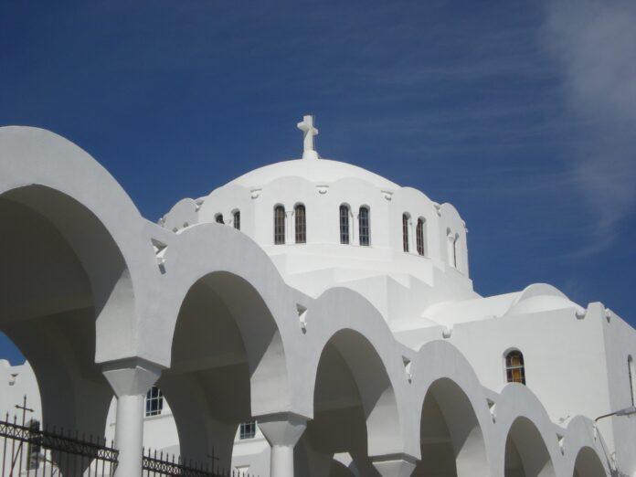 santorini, fira, greek island