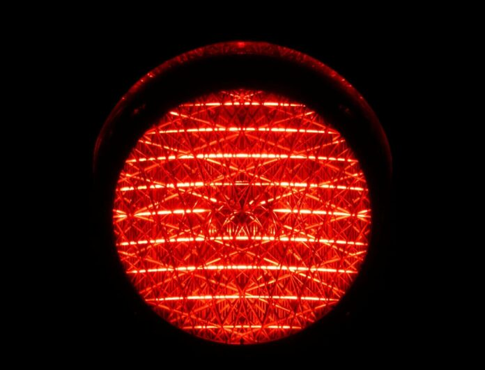 traffic lights, red light, red