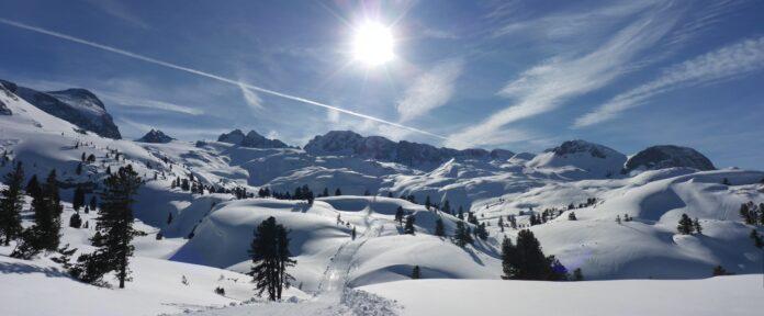 dachstein, winter, panorama