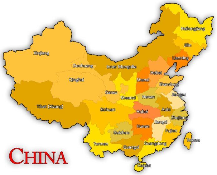 china, map, chinese