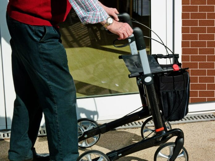 rollator, old, retirement home