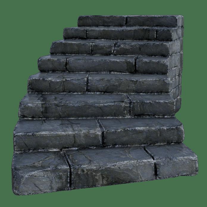 stairs, stone, grass